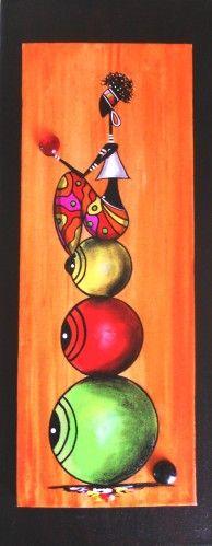 Une ptite Rastaperché en équilibre sur trois boules ... (toile sur toile format 20x50.) Bonne journée à vous. Sylphide