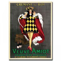 "Trademark Global Canvas ArtVeuve Amiot by Leonetto Cappiello, Traditional Canvas Art - 47"" x 35"" - V"