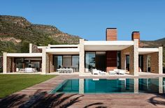 Big terrace with a luxury pool