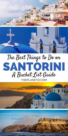 bucket list travel A guide to the very best things to do on the iconic island of Santorini in Greece. Stay in a cave hotel, visit Black and Red Beach, watch the sunset in Oia, walk from Oia to Fira and more. Bucket list travel in Santorini, Greece. Greece Vacation, Greece Travel, Greece Honeymoon, Greek Islands Vacation, Santorini Honeymoon, Greece Trip, Bora Bora, Things To Do In Santorini, Greece