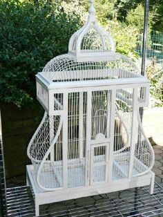 Items similar to Vintage Antique Wood Wire Shabby Cottage Chic Very Large Birdcage House Rare on Etsy