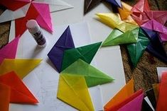 Waldorf window stars. And other preschool art activities.