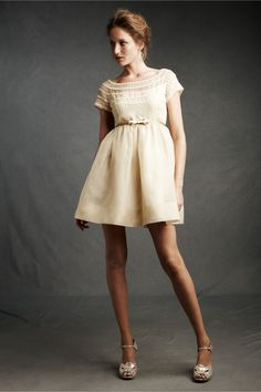 For Esmé Dress in Bridal Party & Guests Bridesmaids Dresses at BHLDN. I love the rows of daisies! $280