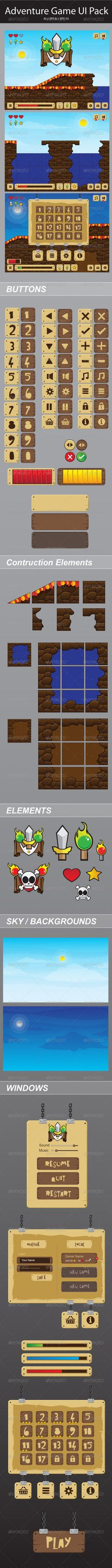 #Adventure #Game Ui - User Interfaces Game Assets