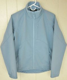 Black Diamond Women's Size M Light Blue Soft Shell Zippered Jacket #BlackDiamond #BasicJacket
