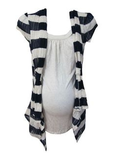 Annie Striped Cardigan by Annabelle Maternity - Maternity Clothing - Flybelly Maternity Clothing $24.50
