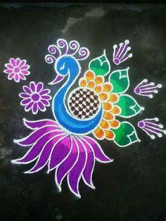 51 Diwali Rangoli Designs Simple and Beautiful Simple Rangoli Designs Images, Rangoli Designs Latest, Rangoli Designs Flower, Rangoli Border Designs, Rangoli Patterns, Rangoli Ideas, Rangoli Designs With Dots, Beautiful Rangoli Designs, Rangoli Colours