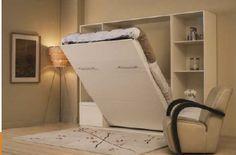 Lit escamotable deux places pour un espace de nuit et de jour, double usage grâce au gain de place.
