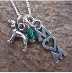 Pointer Mom Mini Sterling Silver Necklace, Dog Park Publishing