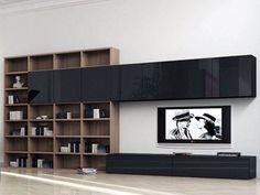울산•부산인테리어 티디컴퍼니/ 거실 월플렉스로 수납공간 또는 서재로 interior design : 네이버 블로그 Living Room Bookcase, Living Room Wall Units, Ikea Living Room, Living Room Designs, Living Room Partition Design, Room Partition Designs, Tv Wall Design, House Design, Lcd Panel Design