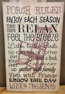New sign for my front porch! :-)