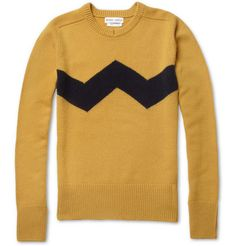"""I love this """"Charlie Brown"""" sweater Michael Bastian Cashmere Crew Neck Sweater   
