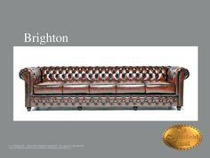 Chesterfield canapé Brighton 5 siéges Antique brun