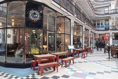 The Cafe Hop: Pot Kettle Black - Just Emmi Travel Photos, Travel Tips, Manchester England, Coffee Shops, Kettle, Street View, Black, Cafes, Tea Pot
