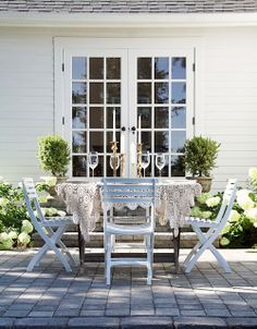 patio via A Country Farmhouse Blog #OutdoorLiving door i would love an no sliding glass door