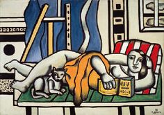 Fernand Léger (1881-1955) | La femme au chat | 1950s, Paintings ...