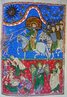 Beato de San Andrés de Arroyo. Saints And Sinners, Illuminated Manuscript, Sacred Geometry, Middle Ages, Romans, Apocalypse, Angels, Symbols, Traditional