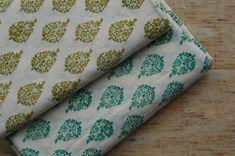 Beautiful Mughal Print Fabric, Block Print Fabric, Indian Fabric, Printed Cotton Fabric, Fabric by y Ikat Fabric, Green Fabric, Cotton Fabric, Happy Emotions, Dabu Print, Indian Fabric, Modern Traditional, Green Backgrounds, Printing Process