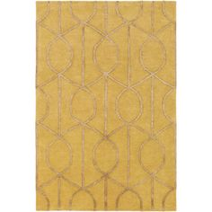 Found it at AllModern - Urban Marie Hand-Tufted Gold Area Rug