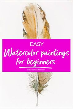 Getting started with watercolors should be about happy experimentation and learning. That's why I've put together these easy watercolor paintings for beginners. Below you'll find detailed descriptions of five simple painting projects. Watercolor Beginner, Watercolor Paintings For Beginners, Step By Step Watercolor, Watercolor Tips, Watercolor Projects, Watercolour Tutorials, Watercolor Pencils, Watercolor Techniques, Painting With Watercolors