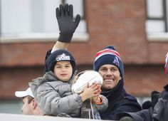 Tom Brady in New England Patriots Victory Parade