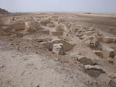"""Ur, Iraq """"Ur of the Chaldeans,"""" city in Mesopotamia where Abraham's brother Haran an likely he was born. (Ge 11:28; Ac 7:2,4) Jehovah appeared to Abraham and directed him to leave Ur. Ge 11:31; 12:1; Ne 9:7 Ur is identified with Muqaiyir, which is W at present of the Euphrates and some 150 mi SE of Babylon. Ruins cover an area about 3,000 by 2,400 ft. a center of worship of moon god Nanna or Sin. at present the Euphrates runs about 10mi E, in ancient times ran W of the city. it-2 p1141…"""