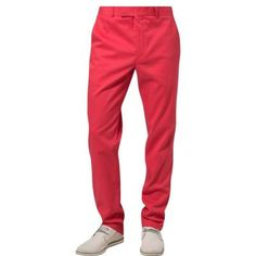 $90, Red Chinos: Vicomte A. Chinos Red. Sold by Zalando. Click for more info: https://lookastic.com/men/shop_items/143604/redirect