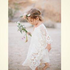 Cuteness of the day: Boho flower girl! Photo by Rand and in Love. | MySweetEngagement.com