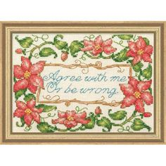 Cross Stitch Kit - Agree With Me by CrossStitchKitsOnly on Etsy