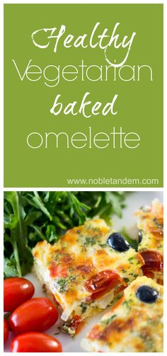 Quick and easy to make this recipe is perfect for a quick meal or for brunch. This is just a delicious omelette, simple and nutritious http://www.nobletandem.com/recipe/vegetarian-baked-omelette/