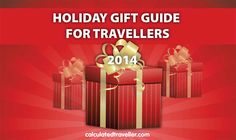 Welcome to the 2nd Annual Holiday Gift Guide for all those travellers in your life! From bags to clothing to electronics to accessories we've got it all...