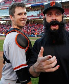 Buster Posey and Brian Wilson