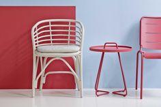 BLEND białe krzesło rattanowe