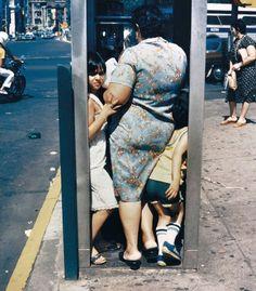 Helen Levitt, Phone Booth, NYC, 1988