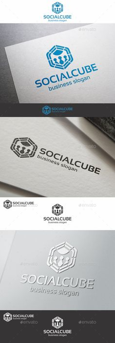 Social Cube Network Logo – a logo that can be used in social networks, team, groups, web designers, programmers, website and app development, game developers and graphic design, photography studio, is excellent logo template highly suitable for online business, chat software, blog, media, software company or anything related to computer and digital.  Adaptable for a wide variety of uses. Design is minimal & easy to configure.