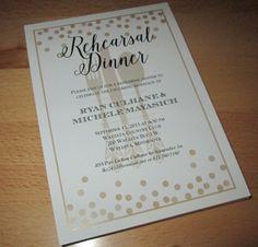 Golden Dots Dinner Invitations