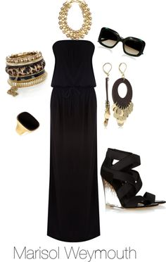 Sassy Black, created by marisolcgarza on Polyvore