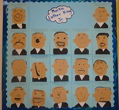 Martin Luther King, Jr. portraits... They all make me SMILE.