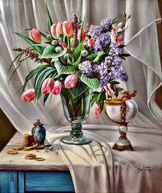 The Poet of Painting ~ Catherine La Rose : Sylvain FORGET ✿ Ways Of Seeing, Coffee And Books, Still Life Art, Old Master, Art Fair, Rose, Old Things, Forget, Table Decorations