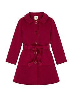 Peplum Coat With Belt