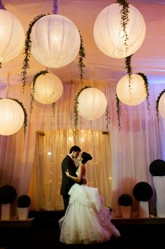 Paper Lanterns taken to a whole new level of romantic ambiance.
