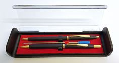 Slim Twist Action Ball Point Pen & Mechanical Pencil Set Display Case Black Gold in Business, Office & Industrial, Office Equipment & Supplies, Office Supplies & Stationery Industrial Office, Office Equipment, Mechanical Pencils, Display Case, Black Gold, Stationary, Office Supplies, Action, Slim