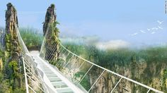 Galeria - Primeira ponte suspensa de vidro é inaugurada na China - 6