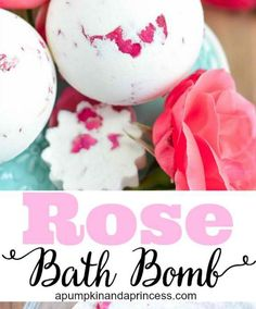 Rose and Milk Bath Bomb | 12 DIY Bath Bombs | Bath Bombs Made Easy, see more at: https://diyprojects.com/diy-bath-bombs-bath-bombs-made-easy/
