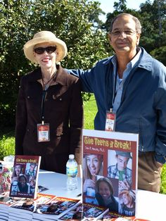 "John Morello and his wife Charlene at his book table at the Louisiana Book Festival in Baton Rouge. John has written ""Give Teens a Break."""