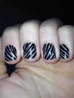 How-To Zebra Nails. Not often you see cute manicures for short nails.