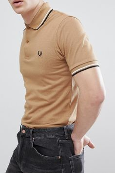 c5d8185ac On my wish list : Fred Perry REISSUES Twin Tipped Polo in Camel from ASOS  #ad #men #fashion #shopping #outfit #inspiration #style #streetstyle #fall  #winter ...