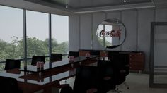 Render 2 de propuesta para sala de juntas en oficinas corporativas