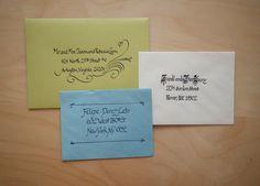 A few fancyish envelopes