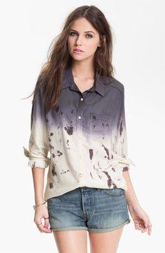 Rubbish Dip Dye Menswear Shirt (Juniors) available at #Nordstrom